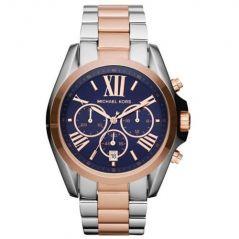 Michael Kors Bradshaw MK5606,Two Tone Rare Blue Dial Chronograph Watch For Women