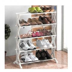 5 Layer Stainless Steel Folding Portable Shoe Rack Organizer Foot Wear
