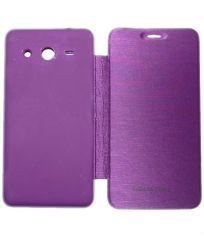 Aara Premium Flip Cover Diary Case Cover For Samsung Galaxy Core 2 Sm-g355h - Purple