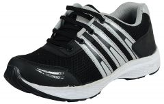 Elvace Men's Black Running Shoes-8033