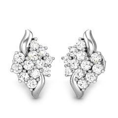 Sheetal Diamonds 0.60TCW Brilliant Real Round Diamond Cluster Earring E0263-10K
