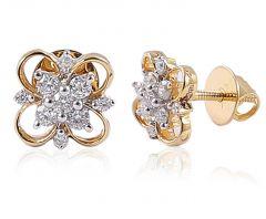 Sheetal Diamonds 0.25Tcw Round Shape Diamond Classic Looking Stud Earring 18K Yellow Gold E0295-18K