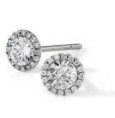 Sheetal Diamonds 0.80TCW Real Round Shape Diamond Party Wear Stud Earring E0306-14K
