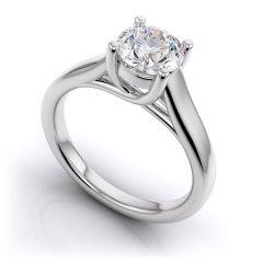Women's Clothing - Sheetal Diamonds 0.60Tcw Classic Real Round Solitaire Diamond Anniversary Ring White Gold R0162-14K