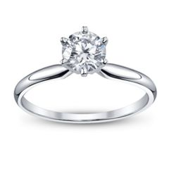 Sheetal Diamonds 0.30Tcw Real Round Solitiare Diamond Wedding Ring R0225-10K