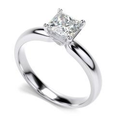 Sheetal Diamonds 0.20Tcw Real Round Princess Diamond Ring 14K White Gold R0256-14K