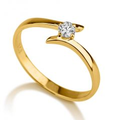 Sheetal Diamond 0.10Ct Real Round Diamond Wedding Ring In 14k Yellow Gold Best Gift