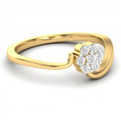 Sheetal Diamonds 0.50TCW Real Round Diamond Engagement Ring In Yellow Gold R0456-18K