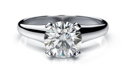 Sheetal Diamonds 0.10Tcw Brilliant Round Cut Solitaire Diamond party Wear Ring R0708-14K
