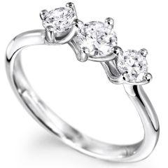 Sheetal Diamonds 0.40Tcw Real Round Shape Three Diamond Wedding Ring R0725-10K