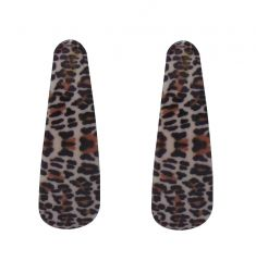 FashBlush Forever New Colorful Animal Print Hair Clip(White, Brown)
