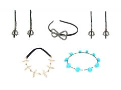FashBlush Forever New Casual Party Combo Of Hair Band and Hair Pins (Set Of 7)(Product Code - FB30168)