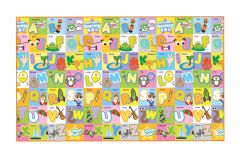 FashBlush Non-woven Free Play Mat Abjad Fun