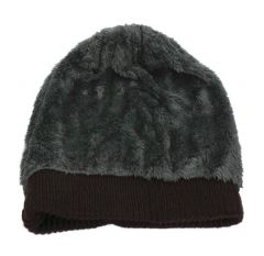 FashBlush Woven Unisex Beanies With Faux Fur Cap  (Product Code - FB54028)