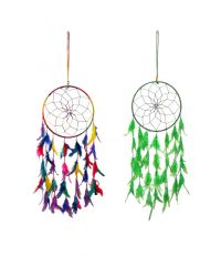 Home Decor (Misc) - FashBlush Mystical Feathers Dream Catchers Wool Windchime  (30 inch, Multicolor)(Product Code -FB64057)