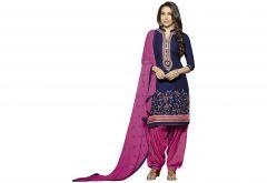 Kvsfab Blue Crepe Printed Salwar Kameez, KVSSK6760KBP_PRINTED