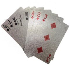 Playing card - Flintstop Silver Playing Cards