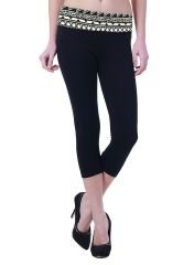Comfty Women's Capri With Printed Waistband