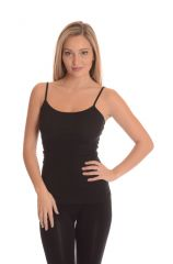 Comfty Stretchable Camisole Tank Tops - Black