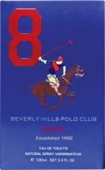 Beverly Hills Polo Club Sport No 8 Eau De Toilette - 100 Ml(For Men)