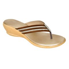 Altek Elegant Comfort Brown Wedge for Women (Code - foot_1328_brown_p210)