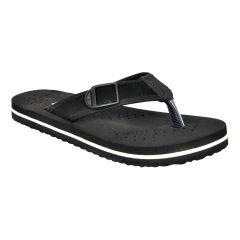 Altek Comfort Orthopedic Black Flip Flops For Men (Code foot_fl_1434_black_p100)