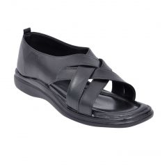 Altek Stylish Party Nite Black Sandal For Men