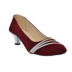 Altek Stony Smooth Maroon Bellies For Womens (Product Code - S1308_maroon)