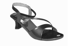 Women's Footwear - Altek Stylish Shiny Black Sandal (Product Code - s1314_black)