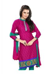 Cotton Multi Colour Embroidered Salwar Kameez Suit Unstitched Dress Material 107Tangy16