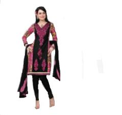 Multi Colour Cotton Embroidered Salwar Kameez Suit Unstitched Dress Material 10Lwb110