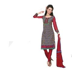 Multi Colour Cotton Embroidered Salwar Kameez Suit Unstitched Dress Material 10Lwb113