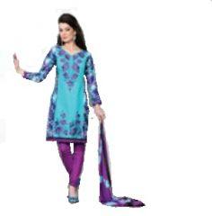 Multi Colour Cotton Embroidered Salwar Kameez Suit Unstitched Dress Material 10Lwb114