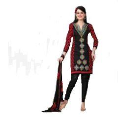 Multi Colour Cotton Embroidered Salwar Kameez Suit Unstitched Dress Material 10Lwb117