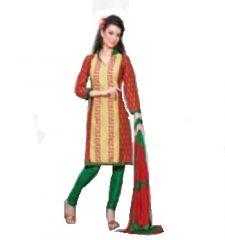 Multi Colour Cotton Embroidered Salwar Kameez Suit Unstitched Dress Material 10Lwb118