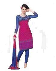 Multi Colour Cotton Embroidered Salwar Kameez Suit Unstitched Dress Material 10Lwb120