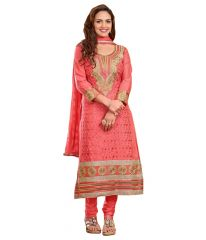 Cotton Embroidered Salwar Kameez Suit Unstitched Dress Material-116Tangy05