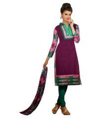 Sinina Women's Chanderi  Cotton Dress Material