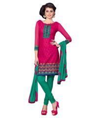 Multi Colour Cotton Embroidered Salwar Kameez Suit Unstitched Dress Material 14Lwb167