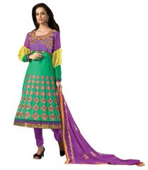 Sinina Designer Embroidered Cotton Unstitched Dress Material  - Flora 5017