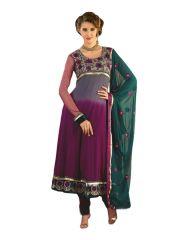 Sinina Womens Georgette Embroidered Semi Stitched Anarkali Salwar Kameez Divine1004