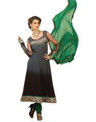 "Sinina Women""s Georgette Embroidered Semi Stitched Anarkali Salwar Kameez Divine1008"