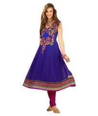 Sinina Womens Georgette Embroidered Semi Stitched Anarkali Salwar Kameez Divine1011