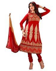 Sinina Anarkali Suits (Unstitched) - Sinina Women's Georgette Semi Stitched Dress Material