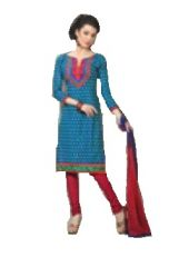 Cotton Embroidered Salwar Kameez Suit Unstitched Dress Material-Florence11