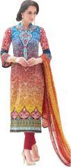 Lawn Cotton Embroidered Salwar Kameez Suit Unstitched Dress Material-Fv312
