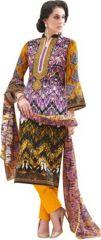 Lawn Cotton Embroidered Salwar Kameez Suit Unstitched Dress Material-Fv315