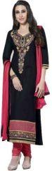 Cotton Embroidered Salwar Kameez Suit Unstitched Dress Material-KH4864