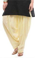 Sinina Cream Color Readymade Full Cotton Patiala Salwar Bottom Pant For Women-LGPT02