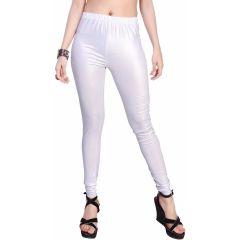 Sinina White Colour Cotton Shimmer Full Length Stretchable Churidar Leggings-LGS01